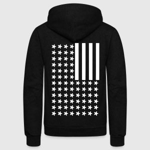 Inverted Flag Zip Hoodies & Jackets - Unisex Fleece Zip Hoodie by American Apparel