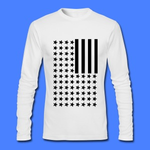 Inverted Flag Long Sleeve Shirts - Men's Long Sleeve T-Shirt by Next Level