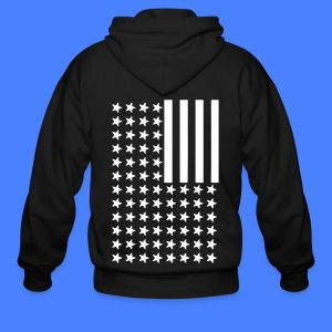 Inverted Flag Zip Hoodies & Jackets - Men's Zip Hoodie