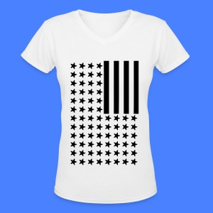 Inverted Flag Women's T-Shirts - Women's V-Neck T-Shirt