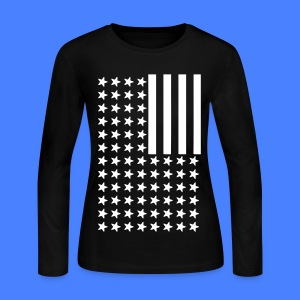 Inverted Flag Long Sleeve Shirts - Women's Long Sleeve Jersey T-Shirt