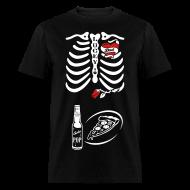 T-Shirts ~ Men's T-Shirt ~ Tattoo Dad X-ray Skeleton / pizza & pop