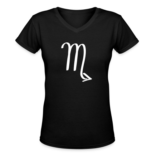 Women's V-Neck T-Shirt SCORPIO | iridescence apparel - Women's V-Neck T-Shirt