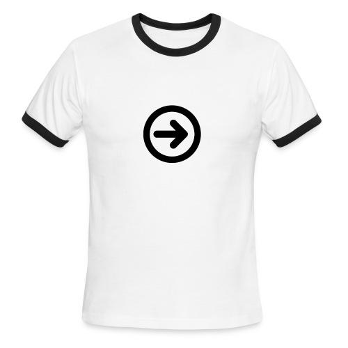 w3devcampus_men_white_shirt - Men's Ringer T-Shirt