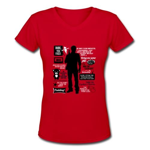 Dean quotes (DESIGN BY AVIA) - Women's V-Neck T-Shirt