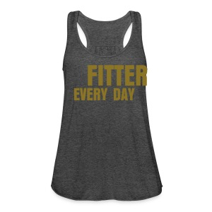 Fitter Every Day tank - Metallic on Deep Heather - Women's Flowy Tank Top by Bella
