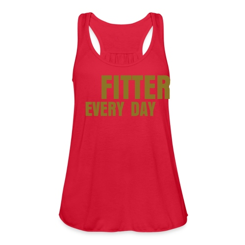 Fitter Every Day tank - Metallic on Red Marble - Women's Flowy Tank Top by Bella