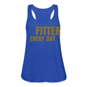 Fitter Every Day tank - Metallic on Royal Blue - Women's Flowy Tank Top by Bella