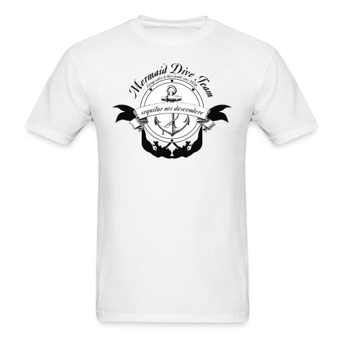 Mermaid Dive Team - Mens White - Men's T-Shirt