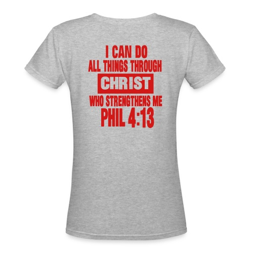 women Christian tee - Women's V-Neck T-Shirt
