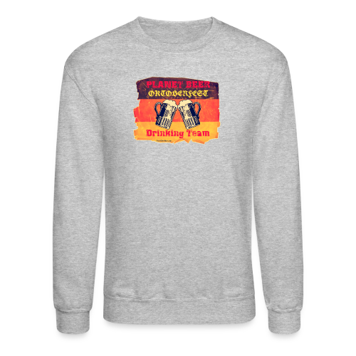 Planet Beer Retro Oktoberfest Drinking Team Men's Crewneck Sweatshirt - Crewneck Sweatshirt