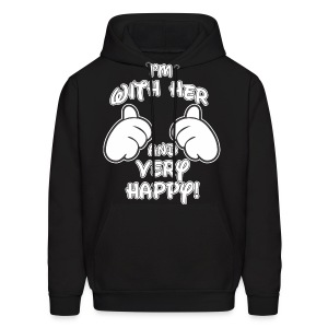 I'm with HER and very Happy - Men's Hoodie
