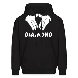 Micky Mouse Diamond Hooded Sweatshirt - Men's Hoodie