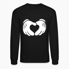 Mickey Mouse Heart Crewneck Sweatshirt
