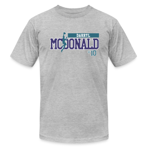 Darryl McDonald hashtag  - Men's T-Shirt by American Apparel