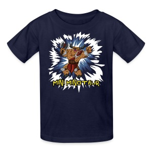 Mini Minotaur (Dark Shirt Design) - Kids' T-Shirt