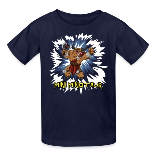 Mini Minotaur (Dark Shirt Design) - Kids' T-Shirt