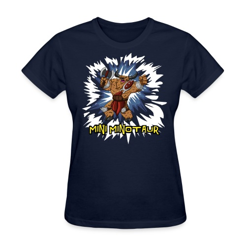 Mini Minotaur (Dark Shirt Design) - Women's T-Shirt