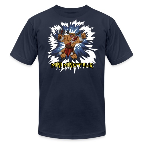 Mini Minotaur (Dark Shirt Design, American Apparel) - Men's Fine Jersey T-Shirt