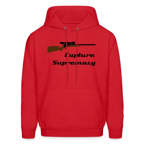 CaptureSupremacy - Red/Sniper - Men's Hoodie