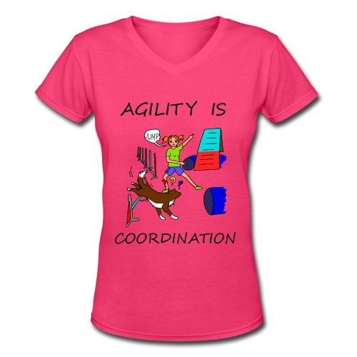 Agility Is - Coordination - Women's V-Neck T-Shirt