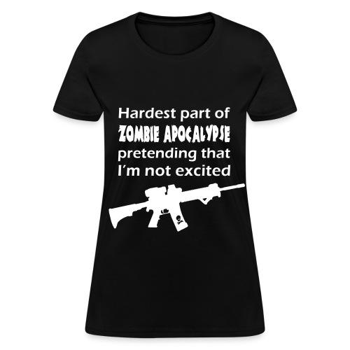 Womens - Zombie Excited Tshirt - Women's T-Shirt