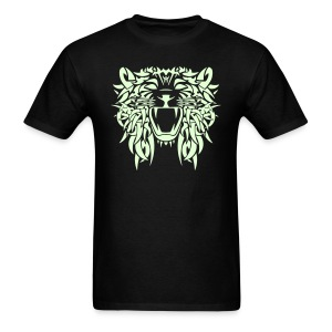 TRIBAL LION - GLOW IN THE DARK T-Shirt - Adult Size - Men's T-Shirt