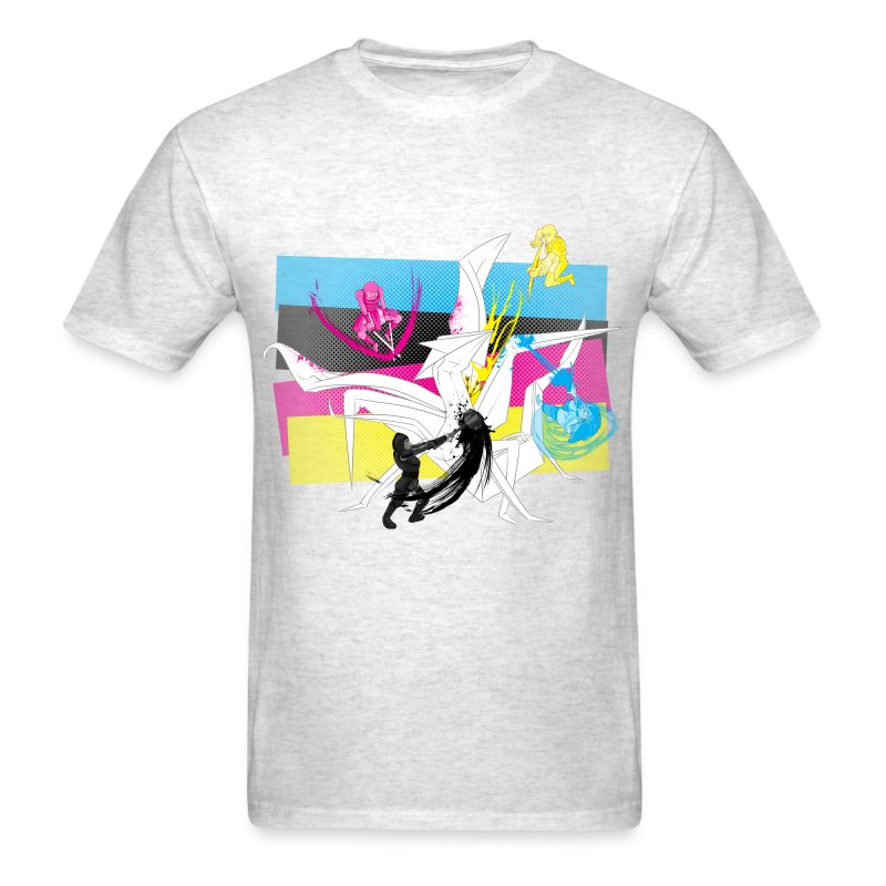 The CMYK Warriors - Men's T-Shirt