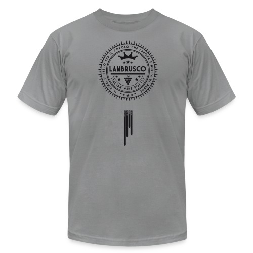 Italian Wine Poetry - LAMBRUSCO - Men's Fine Jersey T-Shirt