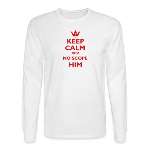 =TA= Keep Calm and No Scope - Men's Long Sleeve T-Shirt