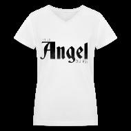 T-Shirts ~ Women's V-Neck T-Shirt ~ Supernatural T-Shirts: Castiel