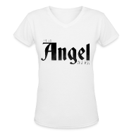 Women's T-Shirts ~ Women's V-Neck T-Shirt ~ Supernatural T-Shirts: Castiel