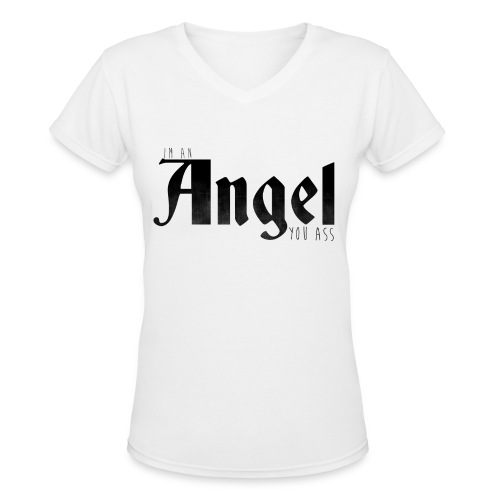 Supernatural T-Shirts: Castiel - Women's V-Neck T-Shirt