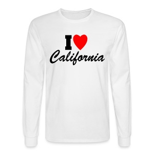 I Love California - Men's Long Sleeve T-Shirt