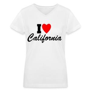 I Love California - Women's V-Neck T-Shirt
