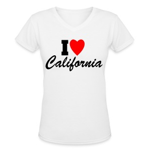 I Love California - Women's V-Neck T-Shirt