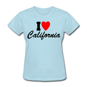 I Love California - Women's T-Shirt