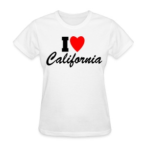 I Love California - Women's T-Shirt