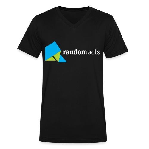 RA Men's V-Neck T-shirt (light logo) - Men's V-Neck T-Shirt by Canvas