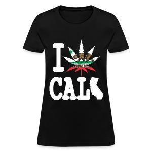 I Weed California Map - Women's T-Shirt