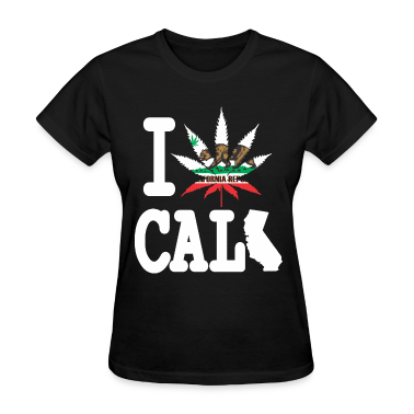 I Weed California Map Women's T-Shirts