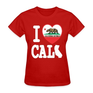 I Heart Cali MAP - Women's T-Shirt