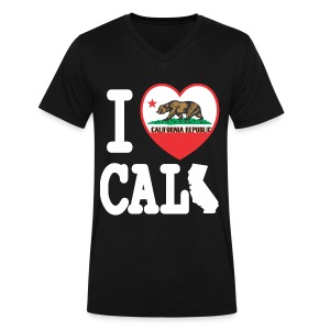 I Heart Cali MAP - Men's V-Neck T-Shirt by Canvas