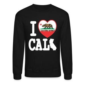I Heart Cali MAP - Crewneck Sweatshirt