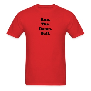 BI-RTDB black on red - Men's T-Shirt
