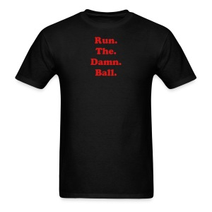 BI-RTDB Red on Black - Men's T-Shirt