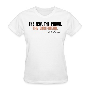 Women's T-Shirt - THE GIRLFRIEND. - glittery pink.