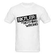 T-Shirts ~ Men's T-Shirt ~ Breaking Bad T-Shirts: Skyler White did Nothing Wrong