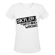 T-Shirts ~ Women's V-Neck T-Shirt ~ Breaking Bad T-Shirts: Skyler White did Nothing Wrong