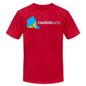 RA Men's T-shirt (light logo) - Men's Fine Jersey T-Shirt